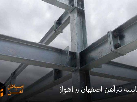 مقایسه تیر اهن اصفهان و اهواز